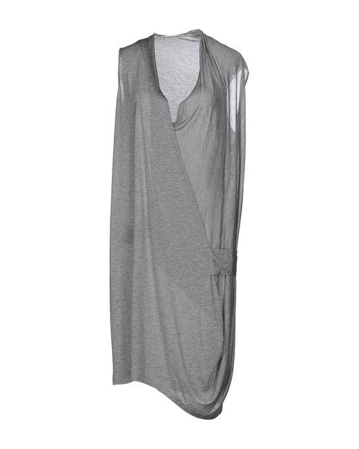 Acne - Gray Short Dress - Lyst