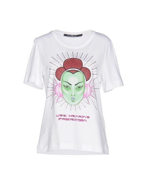 John Richmond - White T-shirt - Lyst