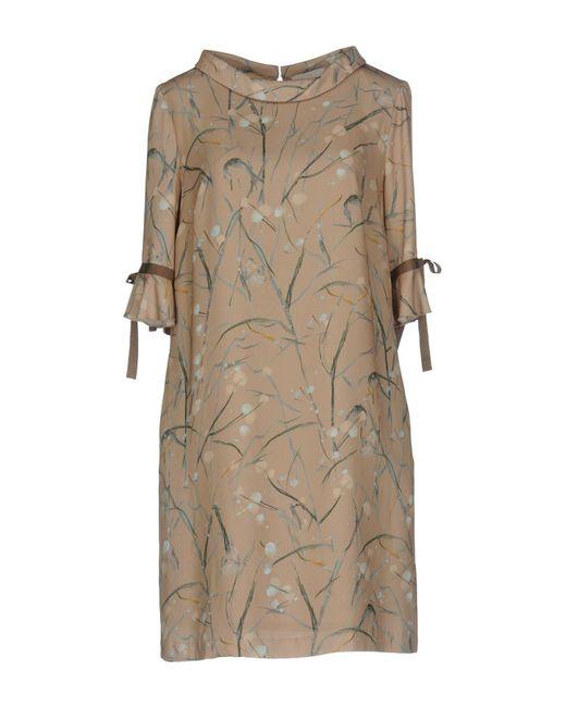 Roberta Scarpa   Natural Short Dress   Lyst