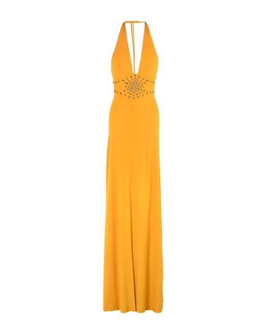 Plein Sud - Orange Long Dress - Lyst