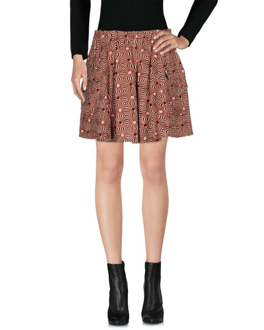 Free People - Red Mini Skirts - Lyst