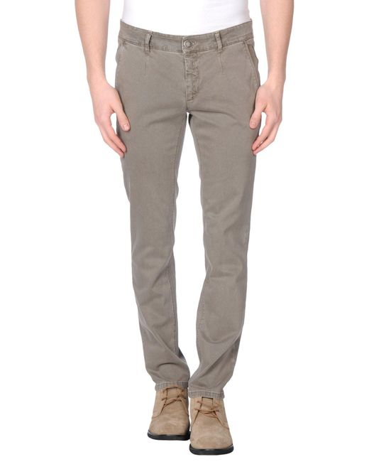 Alessandro Dell'acqua - Natural Casual Pants for Men - Lyst