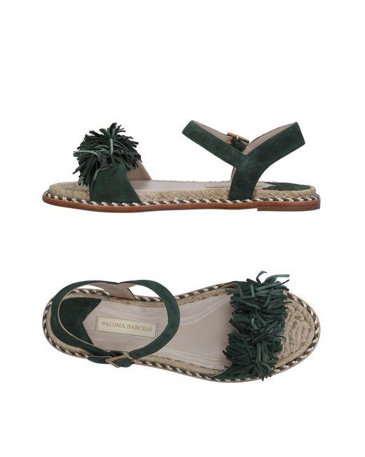 Paloma Barceló - Green Sandals - Lyst