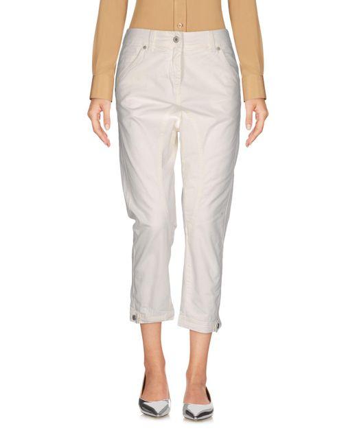 Dondup - White 3/4-length Trousers - Lyst