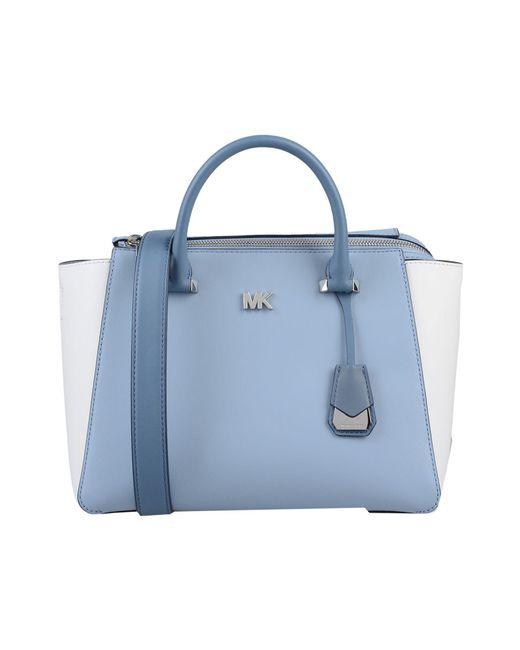 098d3a6bcdfe0b Browse stores. MICHAEL Michael Kors - Blue Handbag - Lyst ...