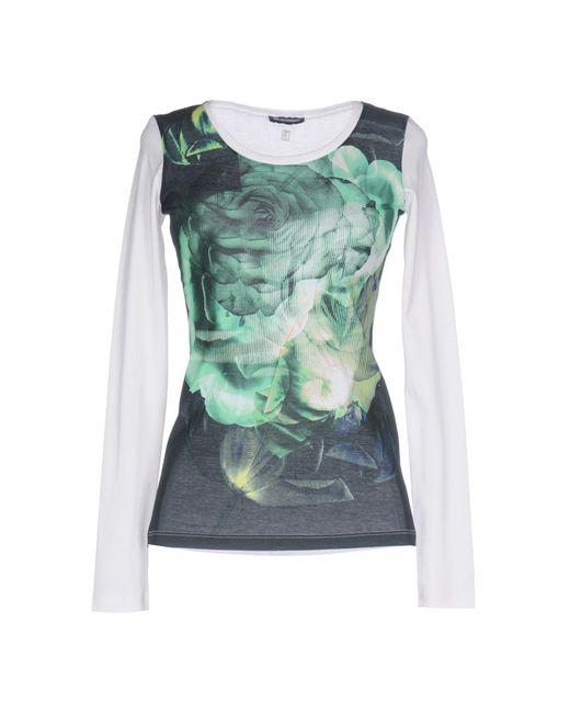Dirk Bikkembergs | Green T-shirt | Lyst