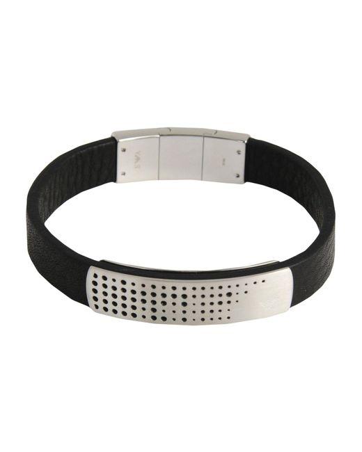 Emporio Armani | Black Bracelet for Men | Lyst