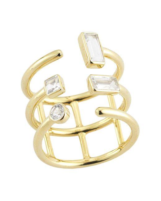 Elizabeth and James - Metallic Ring - Lyst