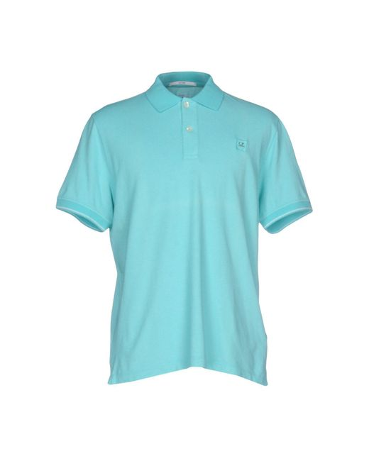 C P Company - Blue Polo Shirt for Men - Lyst
