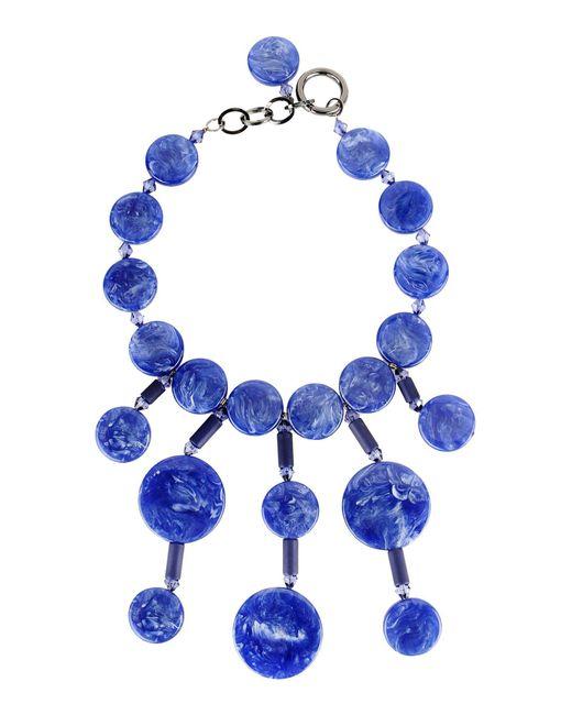 Emporio Armani - Blue Necklace - Lyst
