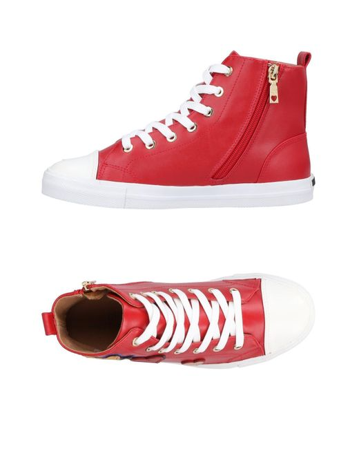Love Moschino - Red High-tops & Sneakers - Lyst