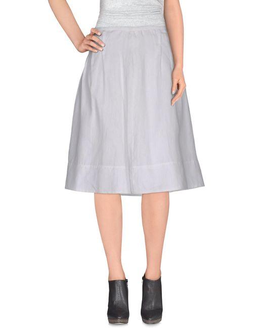 Armani - White Knee Length Skirt - Lyst