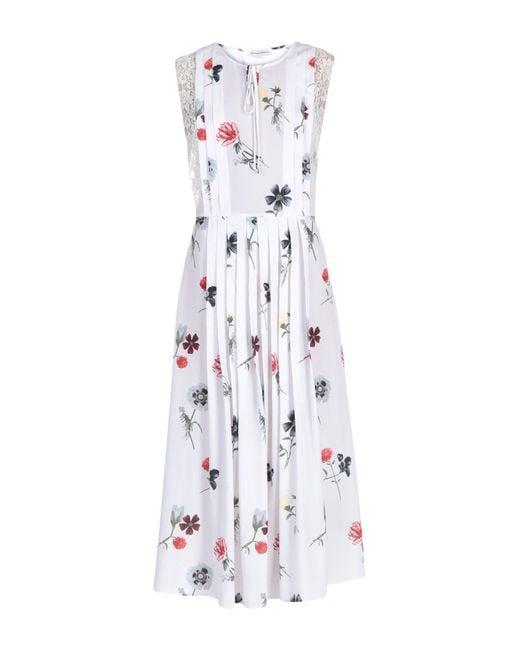 Silvian Heach - White 3/4 Length Dress - Lyst