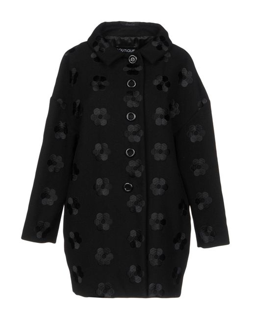 Boutique Moschino - Black Coat - Lyst