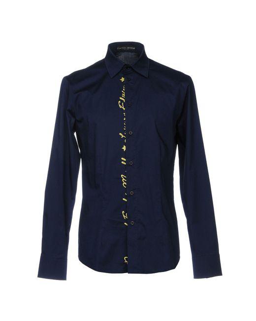 Frankie Morello - Blue Shirt for Men - Lyst