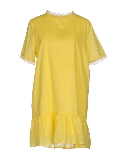 Vanessa Bruno Athé - Yellow Short Dress - Lyst