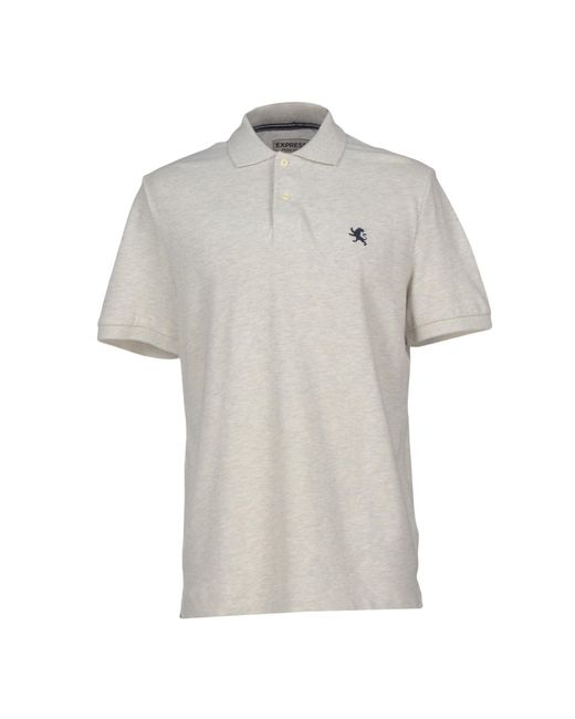 Express | Gray Polo Shirt for Men | Lyst