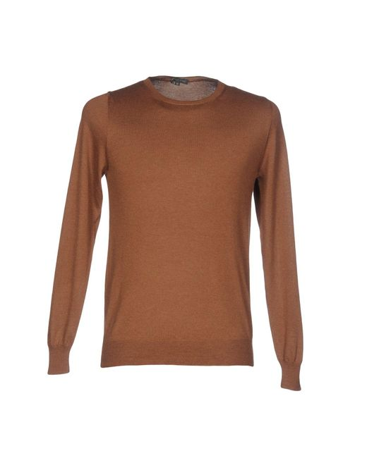 Scaglione - Brown Sweater for Men - Lyst