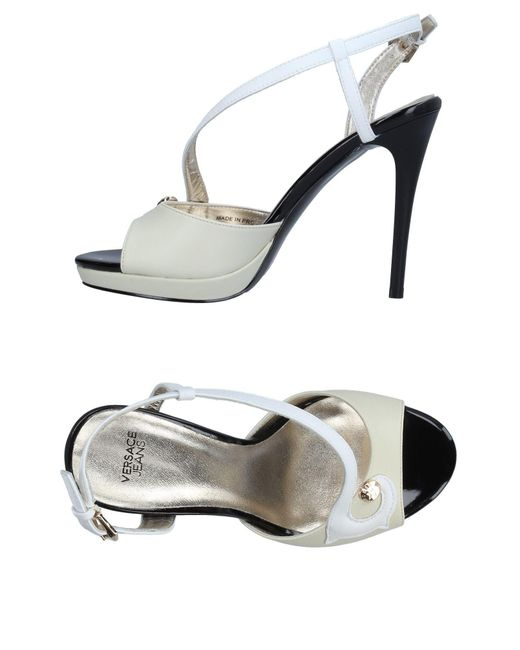 Versace Jeans - White Sandals - Lyst