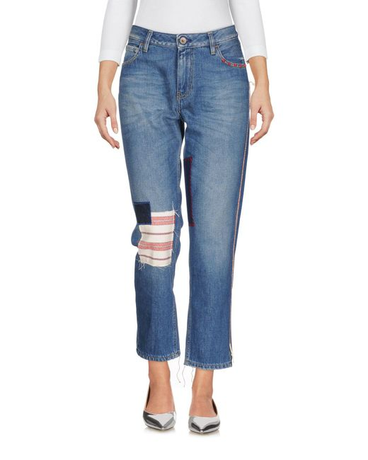 Pence - Blue Denim Trousers - Lyst
