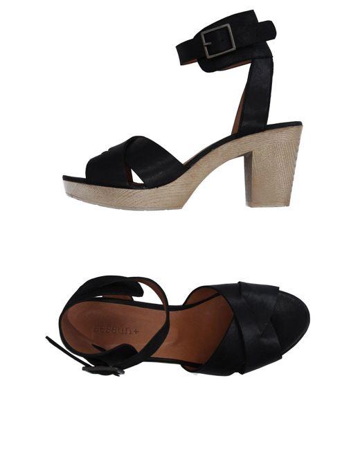 Sessun - Black Sandals - Lyst