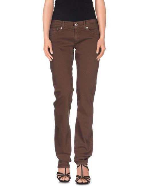 Dondup | Brown Denim Pants | Lyst