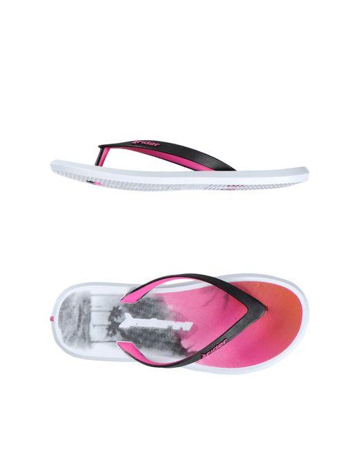 Rider | Pink Toe Strap Sandal | Lyst