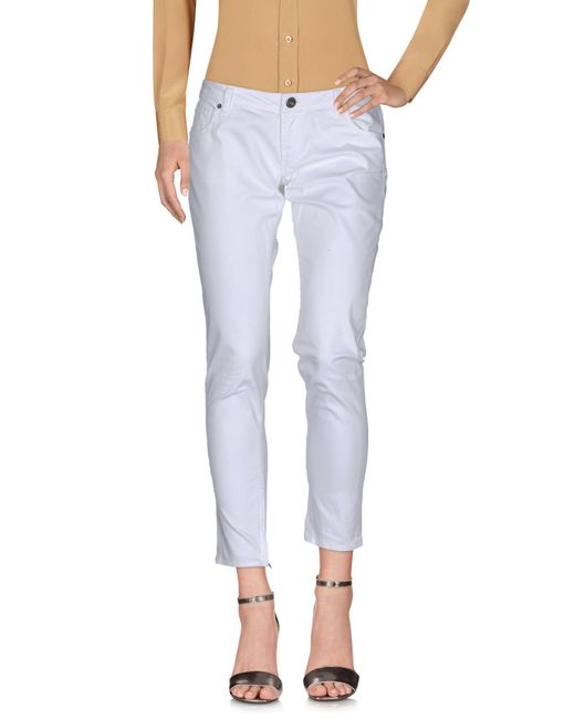 Guess - White Casual Pants - Lyst