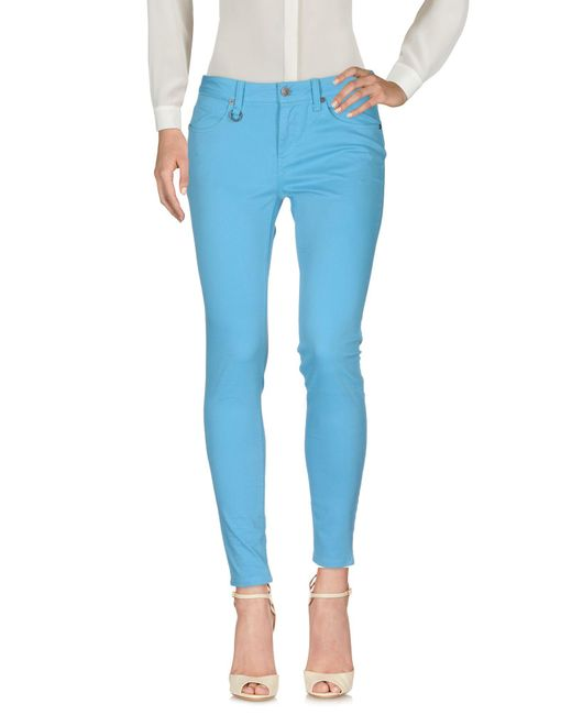 Burberry - Blue Casual Pants - Lyst