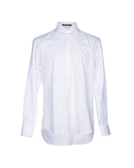 Roberto Cavalli - White Shirt for Men - Lyst