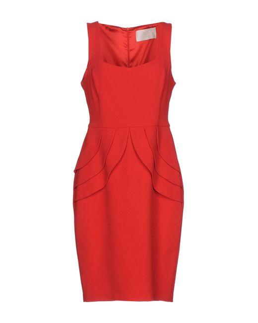 Betty Blue - Red Knee-length Dresses - Lyst