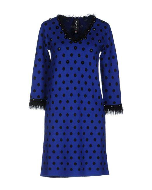 22 Maggio By Maria Grazia Severi - Blue Short Dresses - Lyst