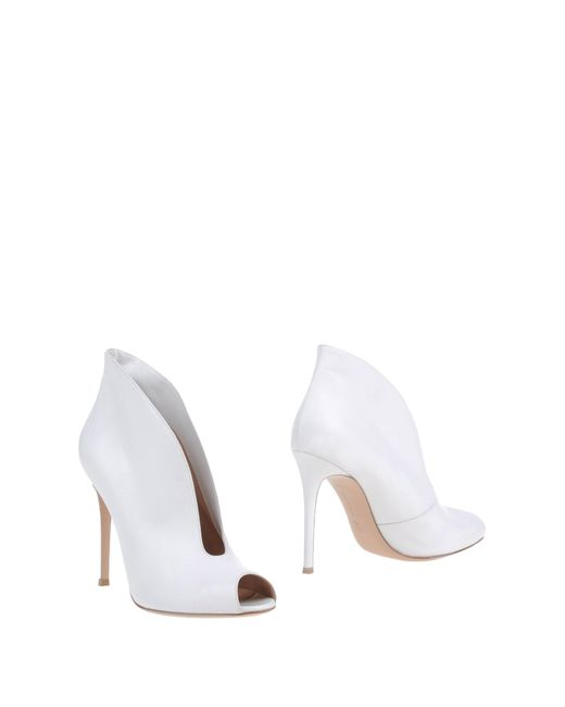 Gianvito Rossi | White Shoe Boots | Lyst