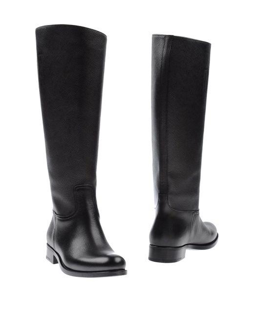 Prada | Black Boots | Lyst