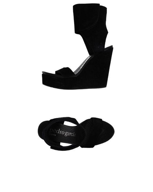 Pedro Garcia | Black Sandals | Lyst