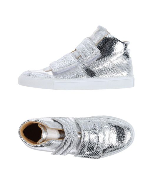MM6 by Maison Martin Margiela | Metallic High-tops & Sneakers | Lyst