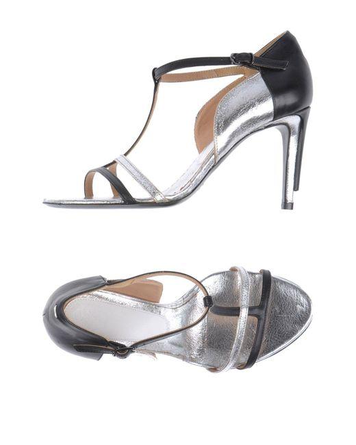 Maison Margiela   Metallic Sandals   Lyst