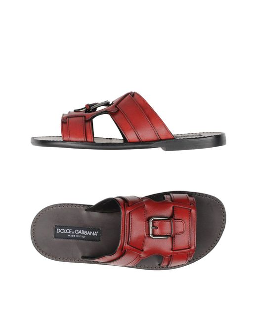 Dolce & Gabbana | Red Sandals for Men | Lyst