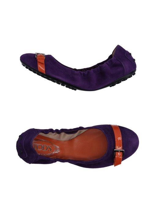 Tod's | Purple Ballet Flats | Lyst