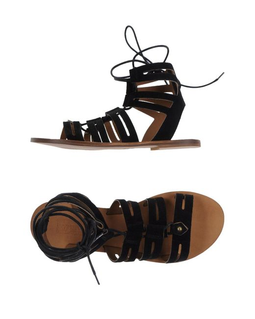 Divine Follie | Black Sandals | Lyst