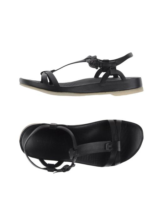Roberto Del Carlo | Black Sandals | Lyst
