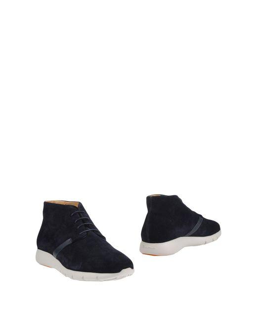 Santoni | Blue Ankle Boots for Men | Lyst