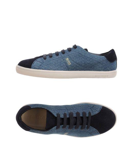 BOSS Orange | Blue Low-tops & Sneakers for Men | Lyst