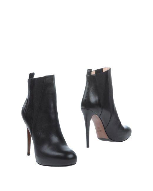 Lella Baldi   Black Ankle Boots   Lyst