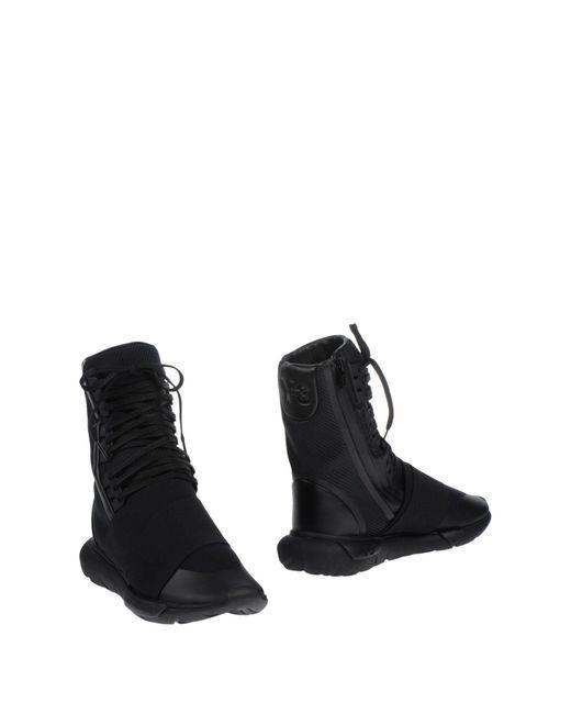Y-3 | Black Y-3 Qasa Boot for Men | Lyst