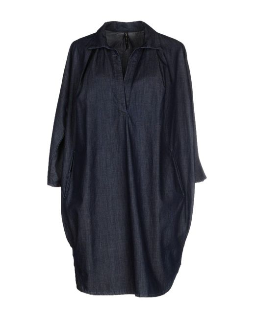 Manila Grace - Blue Short Dress - Lyst