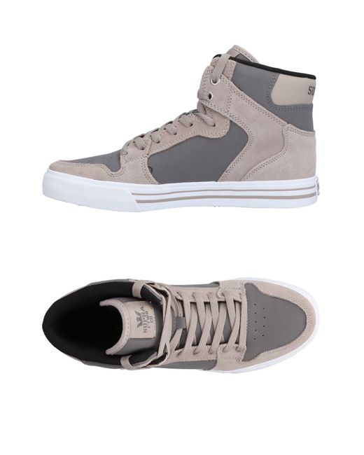 623e06885c0a Supra - Gray High-tops   Sneakers for Men - Lyst ...