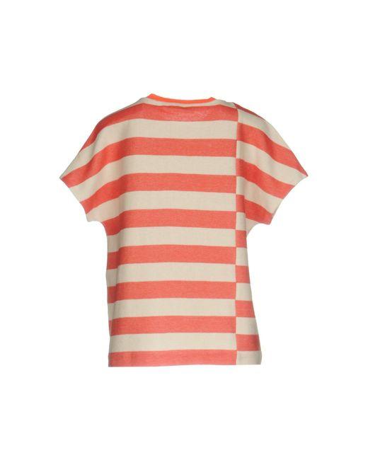Tory burch t shirt in pink lyst for Tory burch t shirt