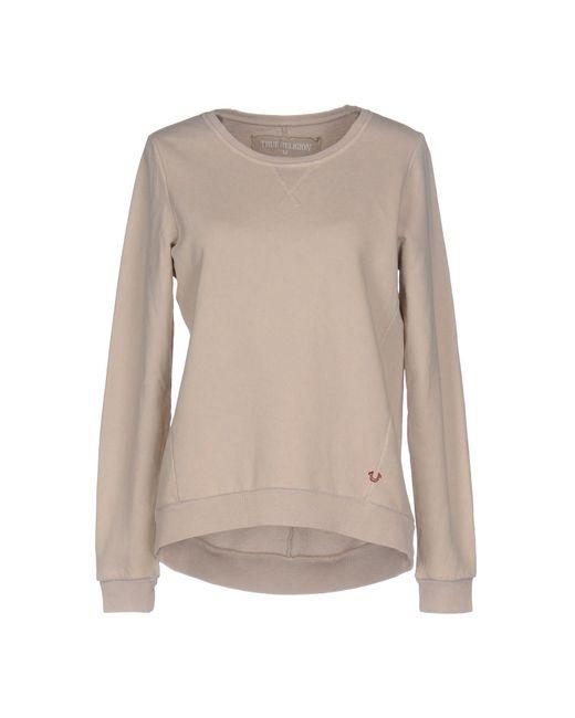 True Religion | Natural Sweatshirt | Lyst