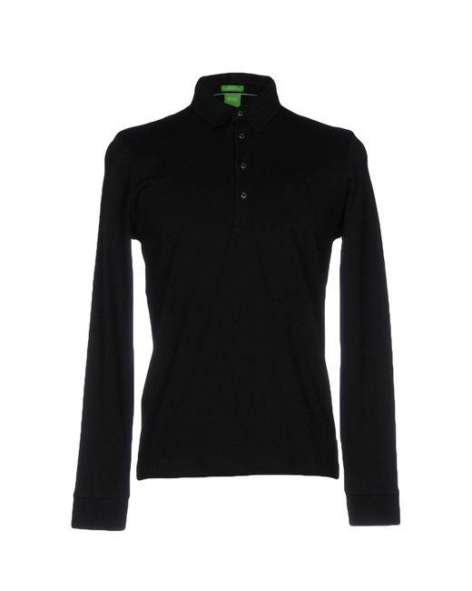 BOSS Green | Black Polo Shirt for Men | Lyst